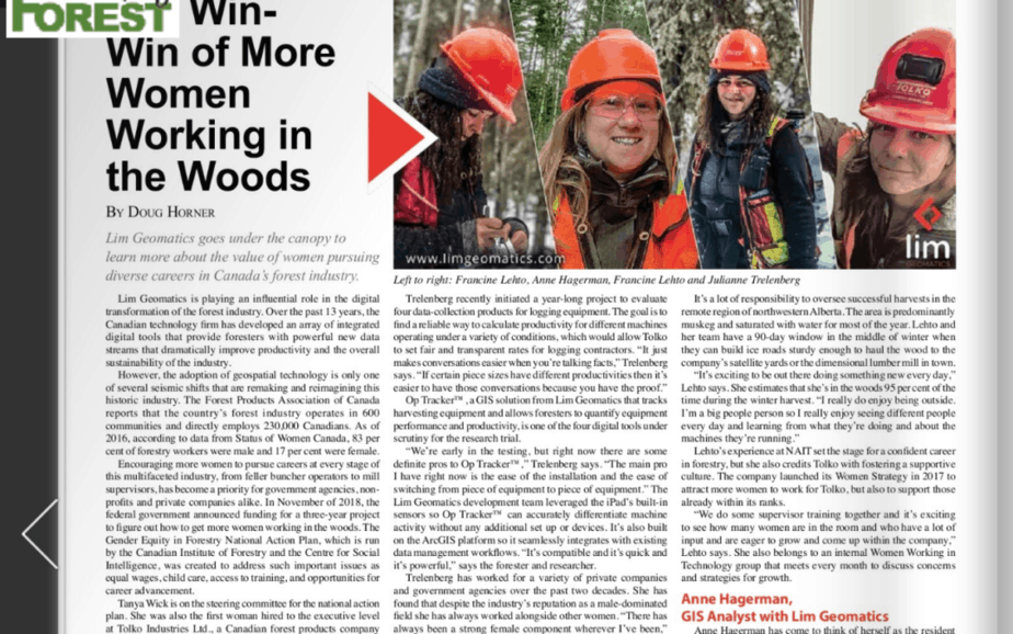 Creating Opportunities for Women in Forestry